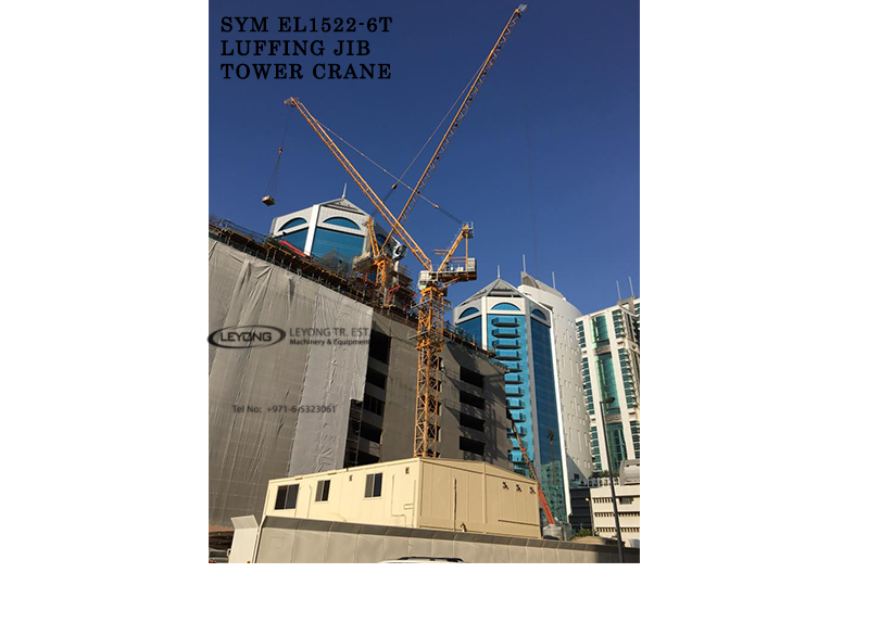 EL15/22 6TON Luffing SYM Tower Crane FOR SALE in UAE, Dubai